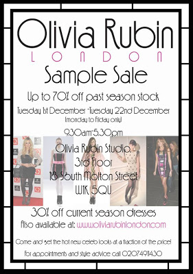 Olivia Rubin Sample Sale…