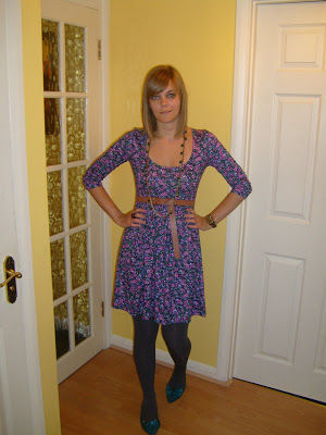 What I wore today…floral Dorothy