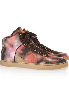 Want it on Wednesday: Mulberry Blurry Bloom High-Top Sneakers