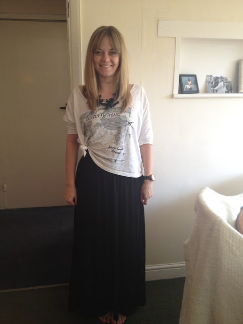 What I'm Wearing: Slouchy, Comfy, Maxi Skirt
