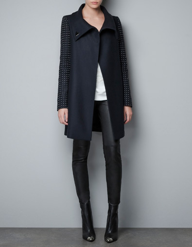 Want it on Wednesday: Zara Coat with Appliqués on the Sleeve