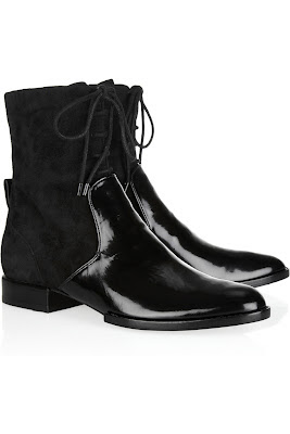 Footwear Friday: Alexander Wang Arizona Suede and Patent Leather Ankle Boots