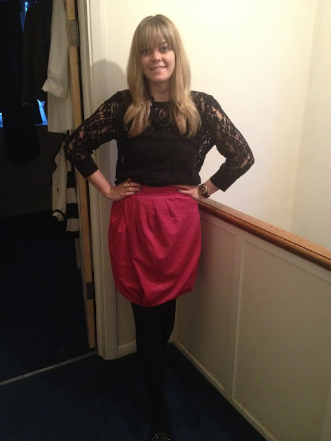 What I Wore Today: Pink Bubble Skirt