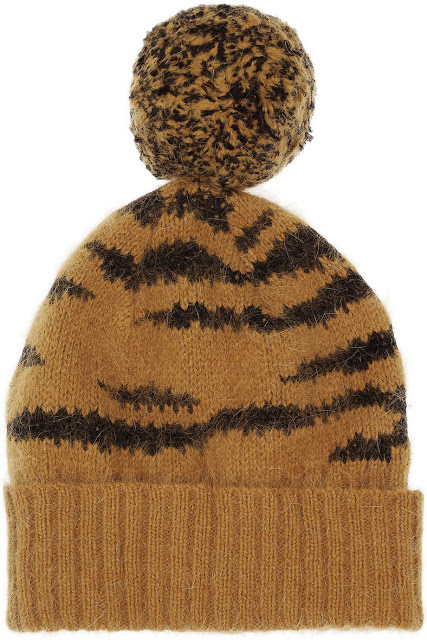 Want it on Wednesday: Mulberry Tiger-intarsia Angora-blend Beanie