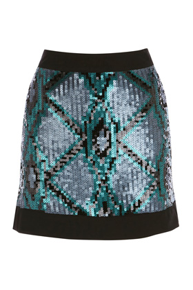 Want it on Wednesday: Warehouse Multi Geo Sequin Skirt