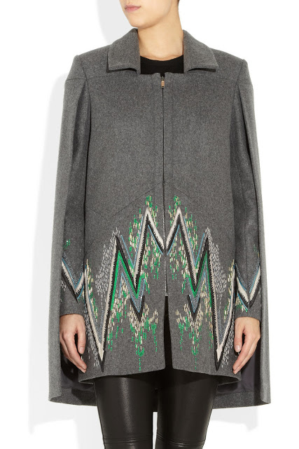 Want it on Wednesday: Matthew Williamson Embroidered Wool-blend Cape