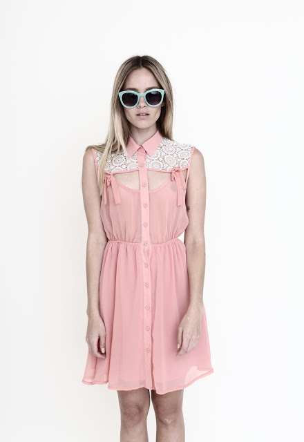Want it on Wednesday: Addyson Pink Peach with Crochet Dress