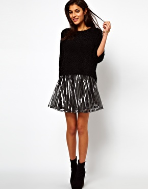Want it on Wednesday: ASOS Metallic Skater Skirt