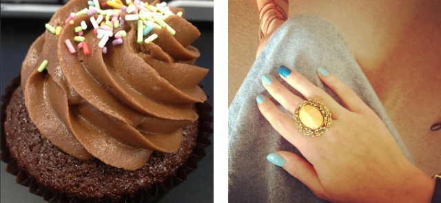 My Month in Pictures: Cupcakes, Blue Nails and Glitter Balls