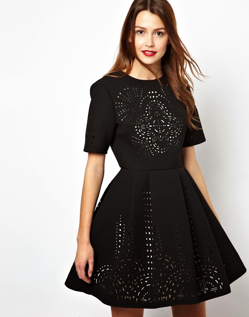 Want it on Wednesday: ASOS Extreme Skater Dress With Laser Cut Outs