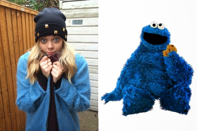 My Brand Spanking New Cookie Monster Coat