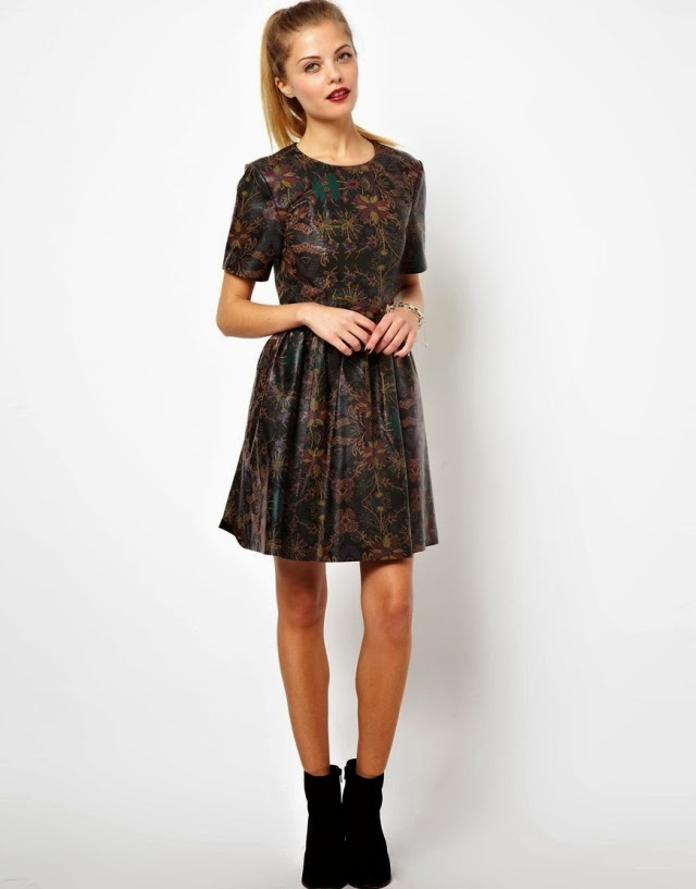 Want it on Wednesday: This Epic ASOS Printed Leather Skater Dress