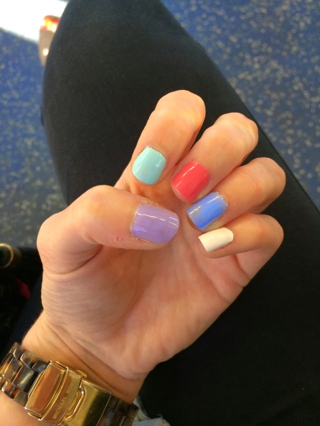 Multicoloured Nails for Summer