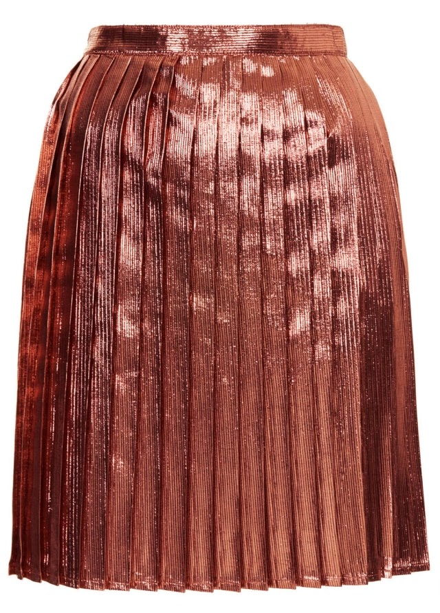 Want it on Wednesday: The Metallic Pleat Skirt from My Dreams