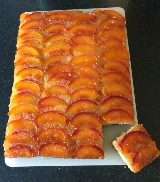 I Only Went and Made a Nectarine Upside-Down Cake with Salted Caramel
