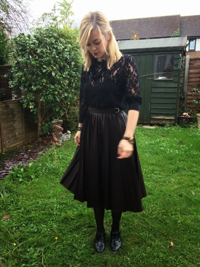 3 Ways to Wear a Faux-Leather Pleated Midi Skirt