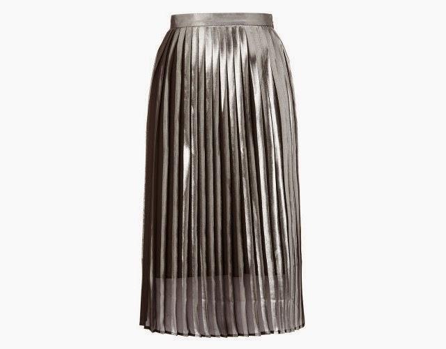 I Need This Whistles Metallic Pleat Skirt, Right?