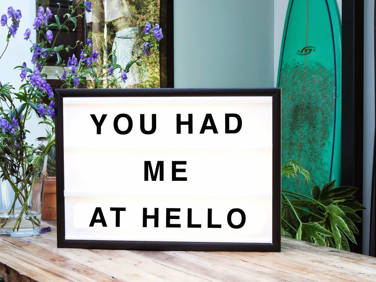 Want it on Wednesday: You Had Me at Hello