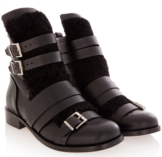 Want it on Wednesday: IRO's Bad Boy Shearling Boots