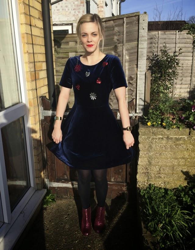 My Dreamy Velvet Dress, Henry Holland Style