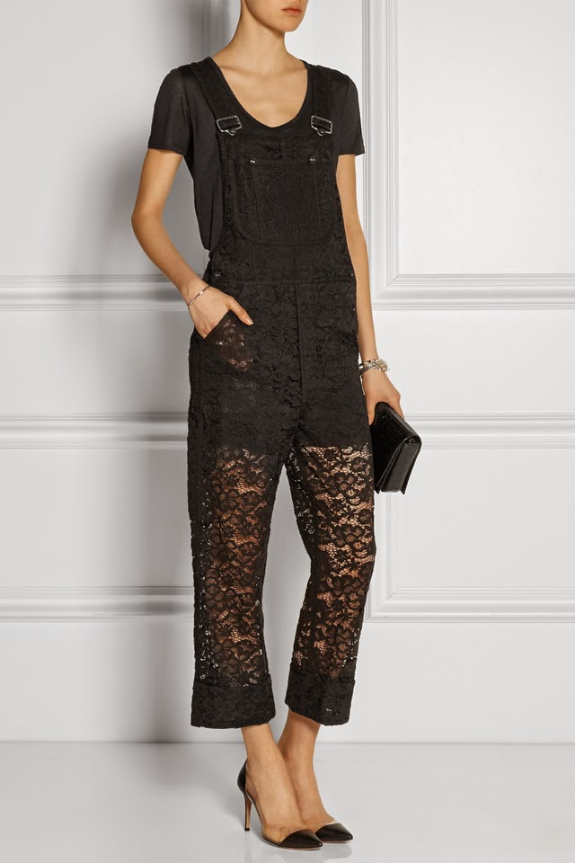 Lace Overalls to Give You That Friday Feeling
