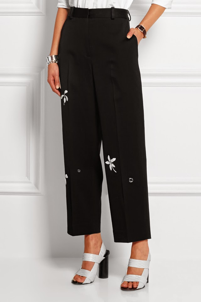 Daisy Appliquéd Trousers I've Been Expecting You