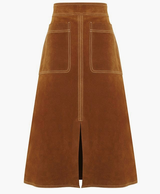 Say Hello to the Soft-Suede Skirt of the Season