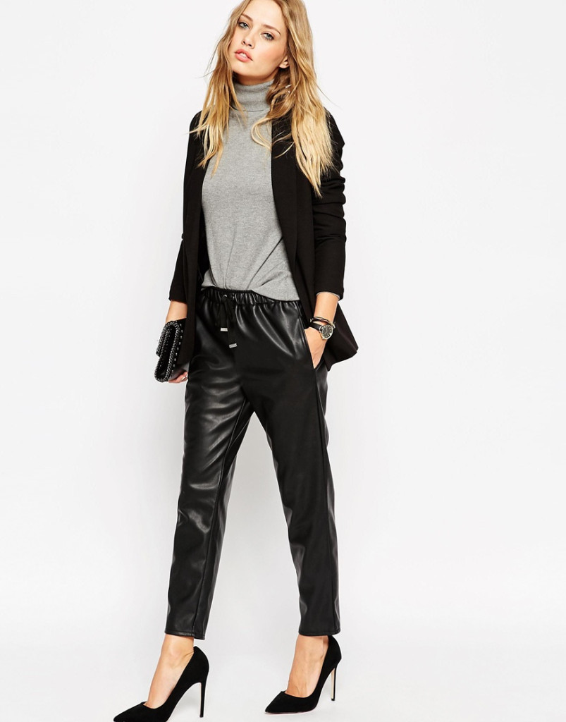 Want it on Wednesday: Badass Leather-Look Joggers