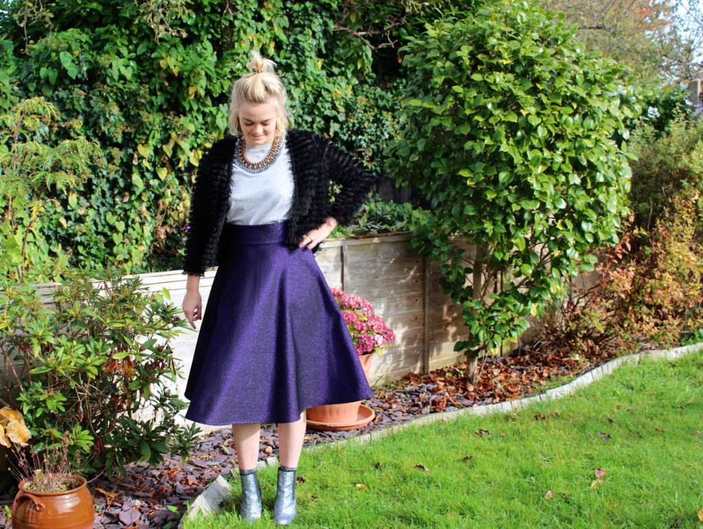 A New Purple Glittery Skirt to Twirl in