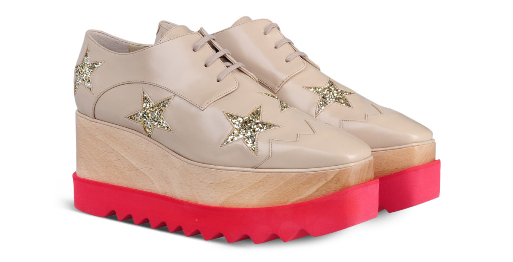 Want it on Wednesday: Glitter Stars, a Wood Platform Edge and Chunky Rubber Sole
