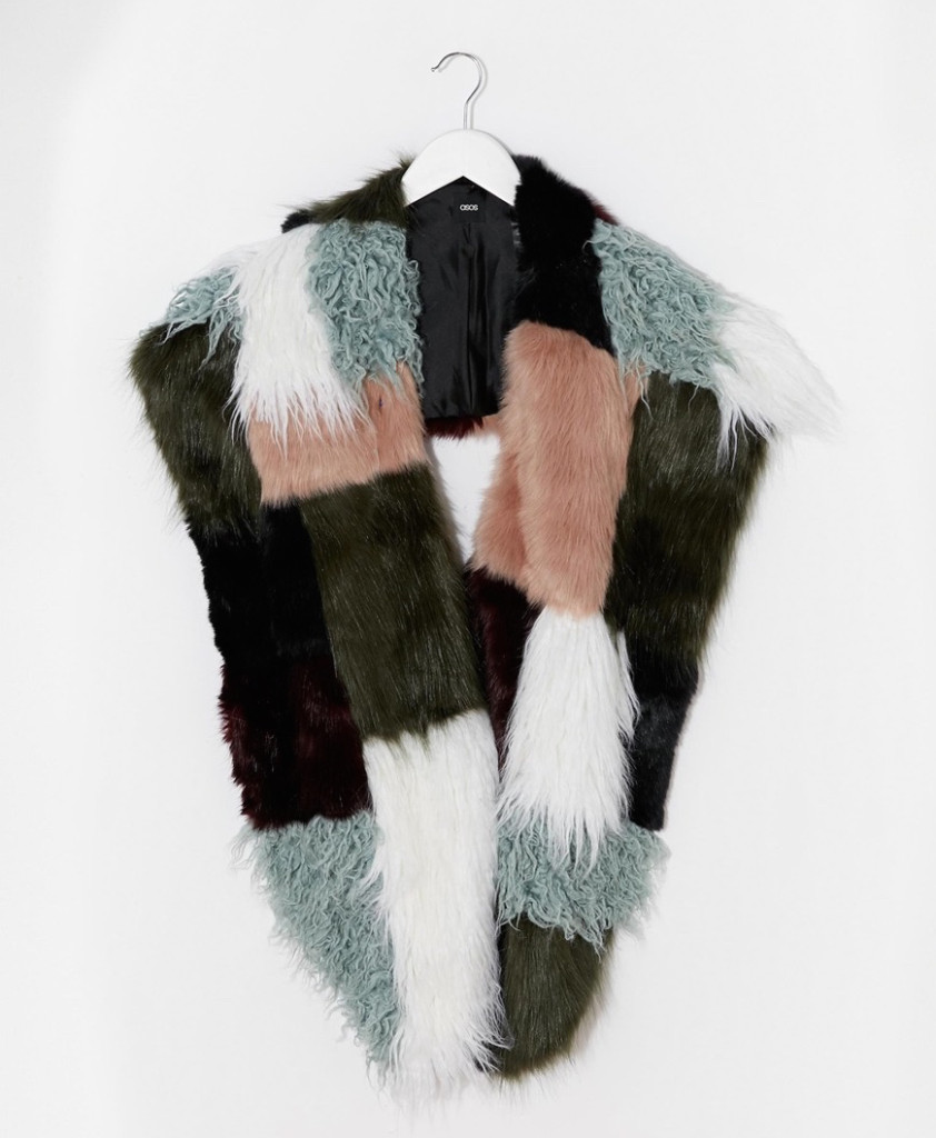 Want it on Wednesday: The Faux Fur Patchwork Scarf I Want to Pet