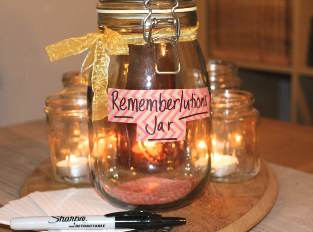 "Making My ""Rememberlutions"" Jar"