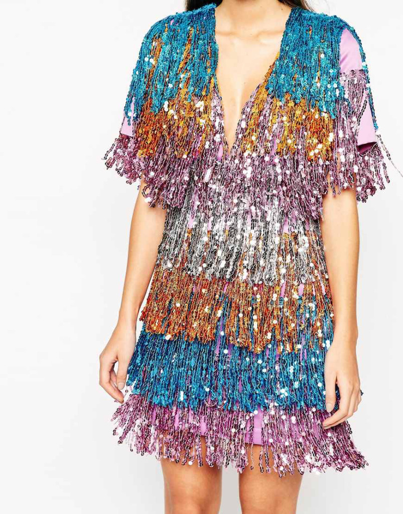 Want it on Wednesday: Layered. Sequin. Fringed. Dress