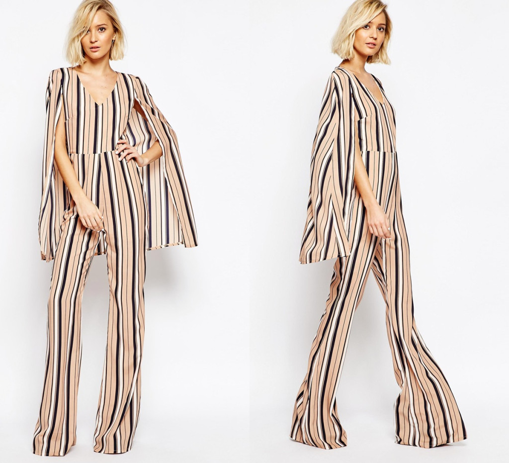 Want it on Wednesday: This Lavish Alice Stripe Cape Jumpsuit