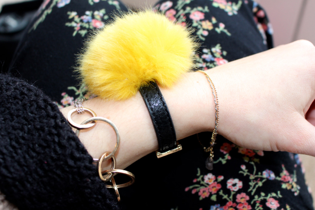 I've Got Me a Giant Pom Pom Bracelet and I'm in Love