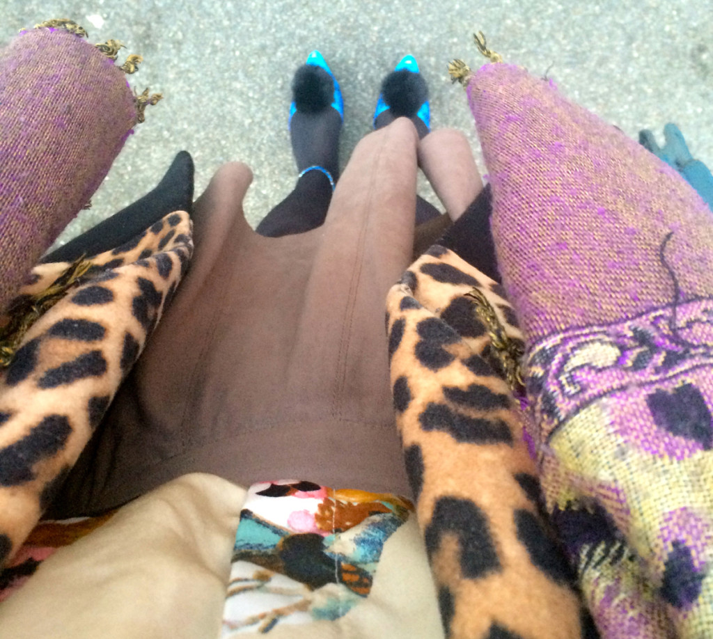 The Day I Wore Blue Snakeprint and Pom Pom Heels to Work