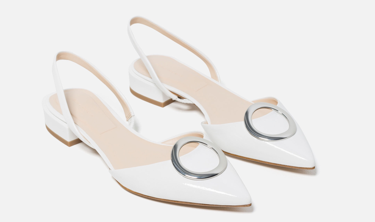 Zara FLAT SHOES WITH DETAIL
