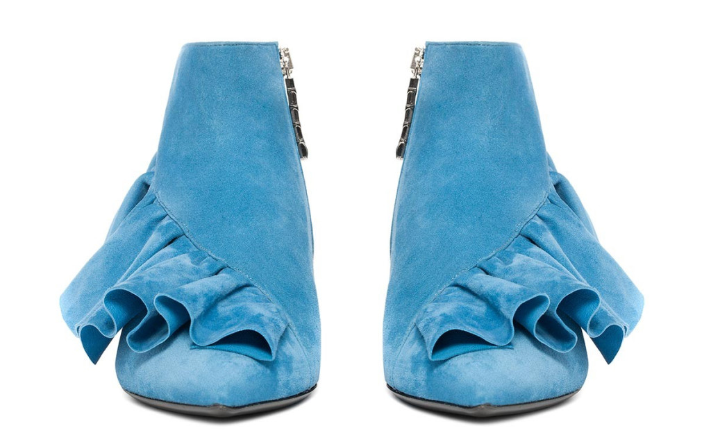 Want it on Wednesday: J.W.Anderson's Dreamy Aqua Booties with All the Ruffles