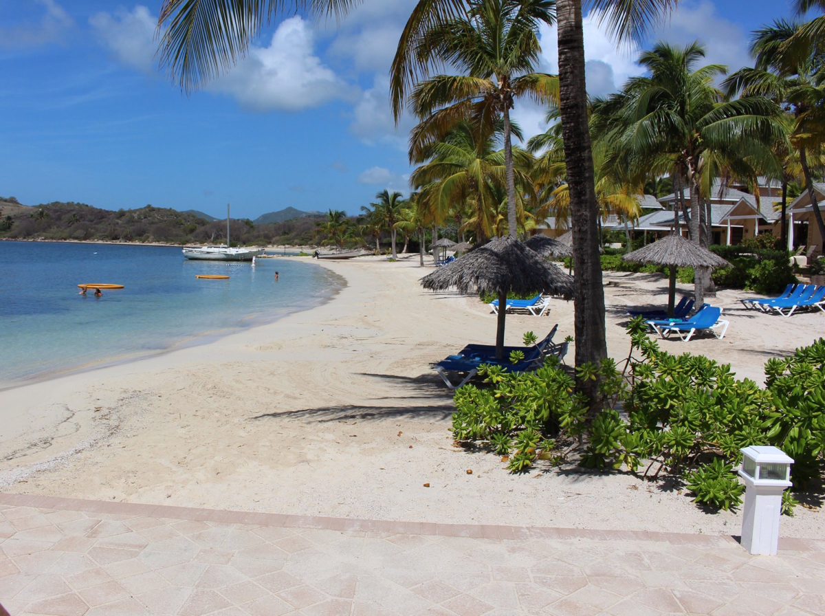 antiguan beach