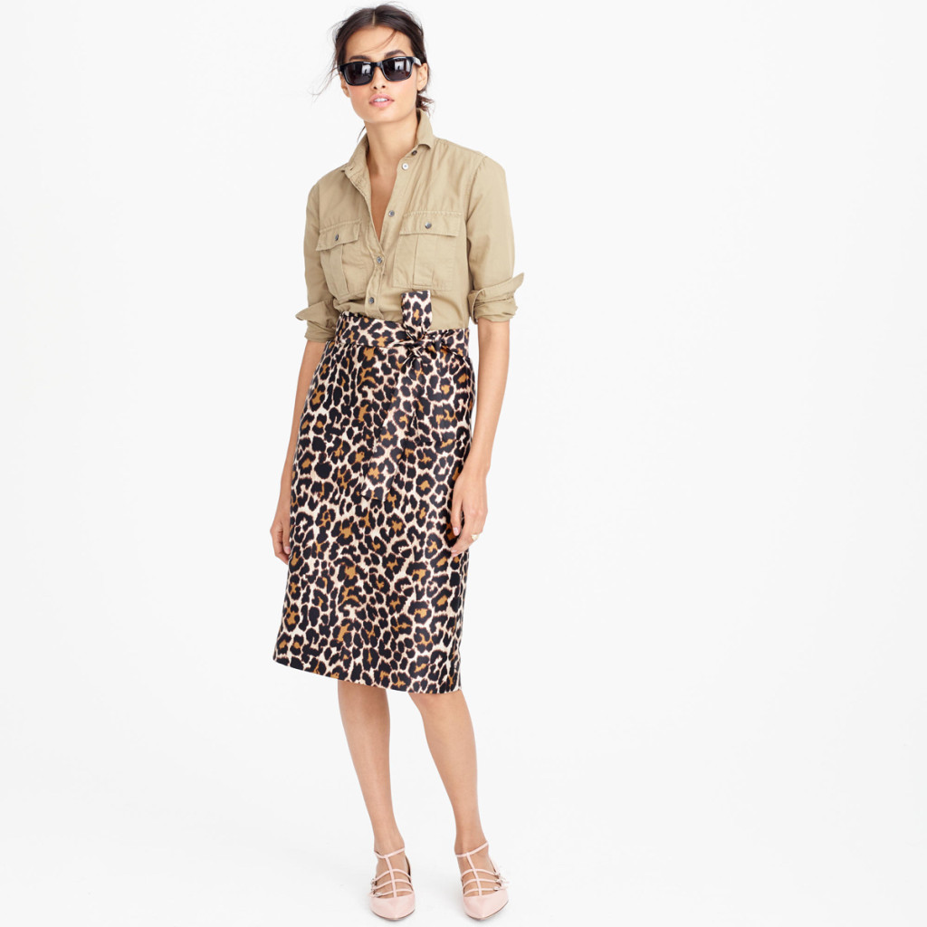 Want it on Wednesday: Leopard Print Tie-Waist Skirt. Because Leopard Print is My Jam