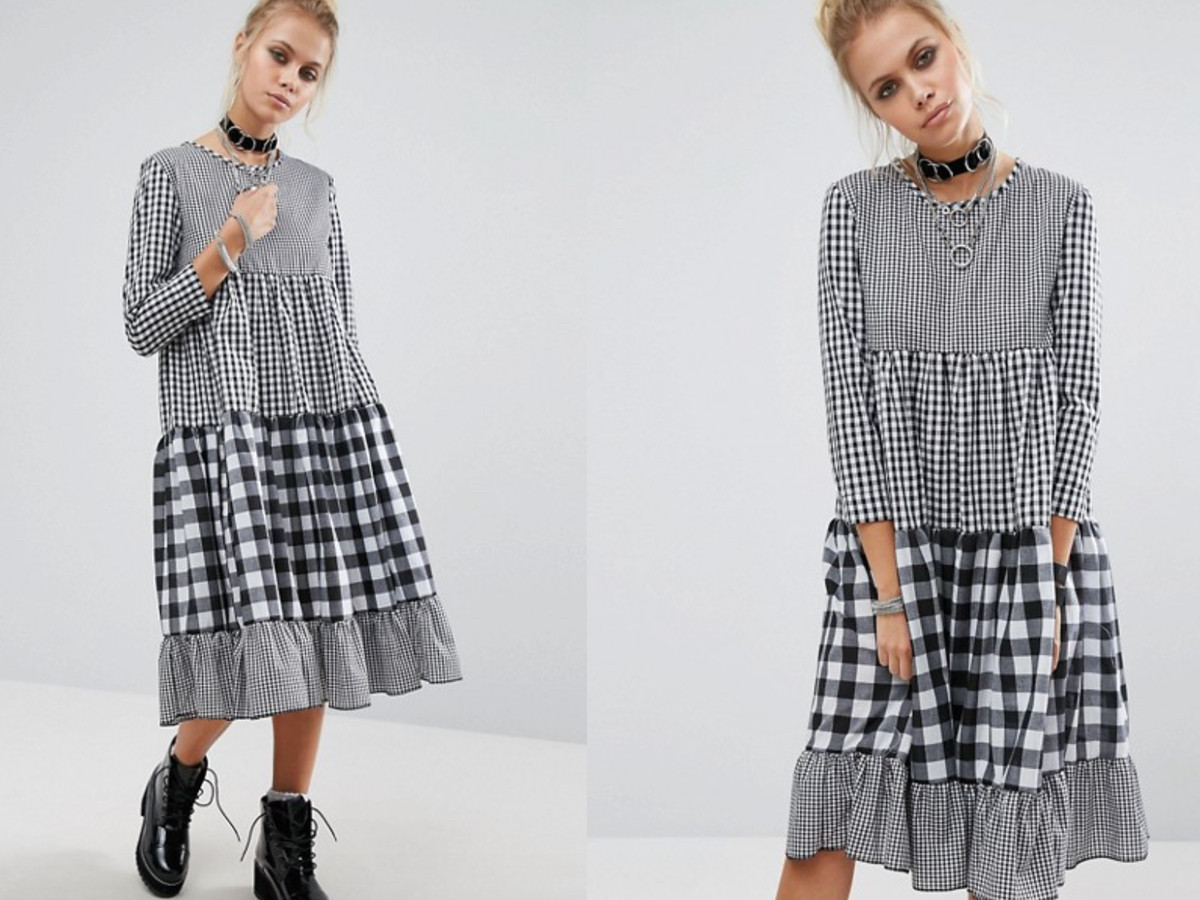 Want it on Wednesday: Mix and Match Gingham Tiered Dress