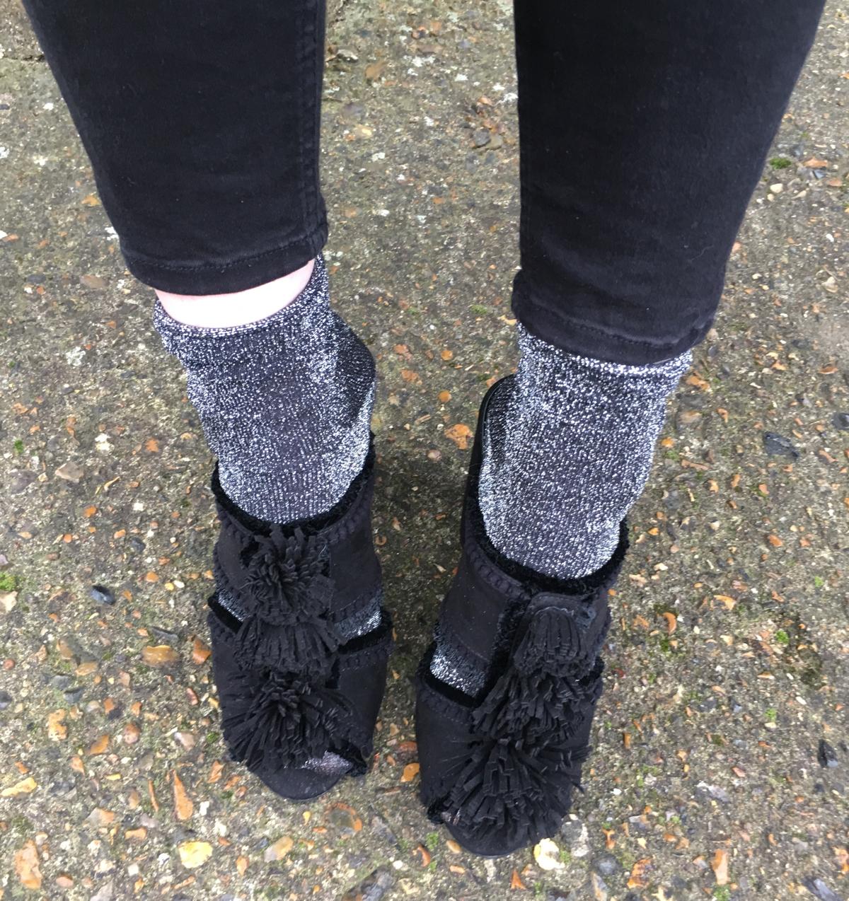 glitter-socks-mule
