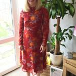 red-midi-dress