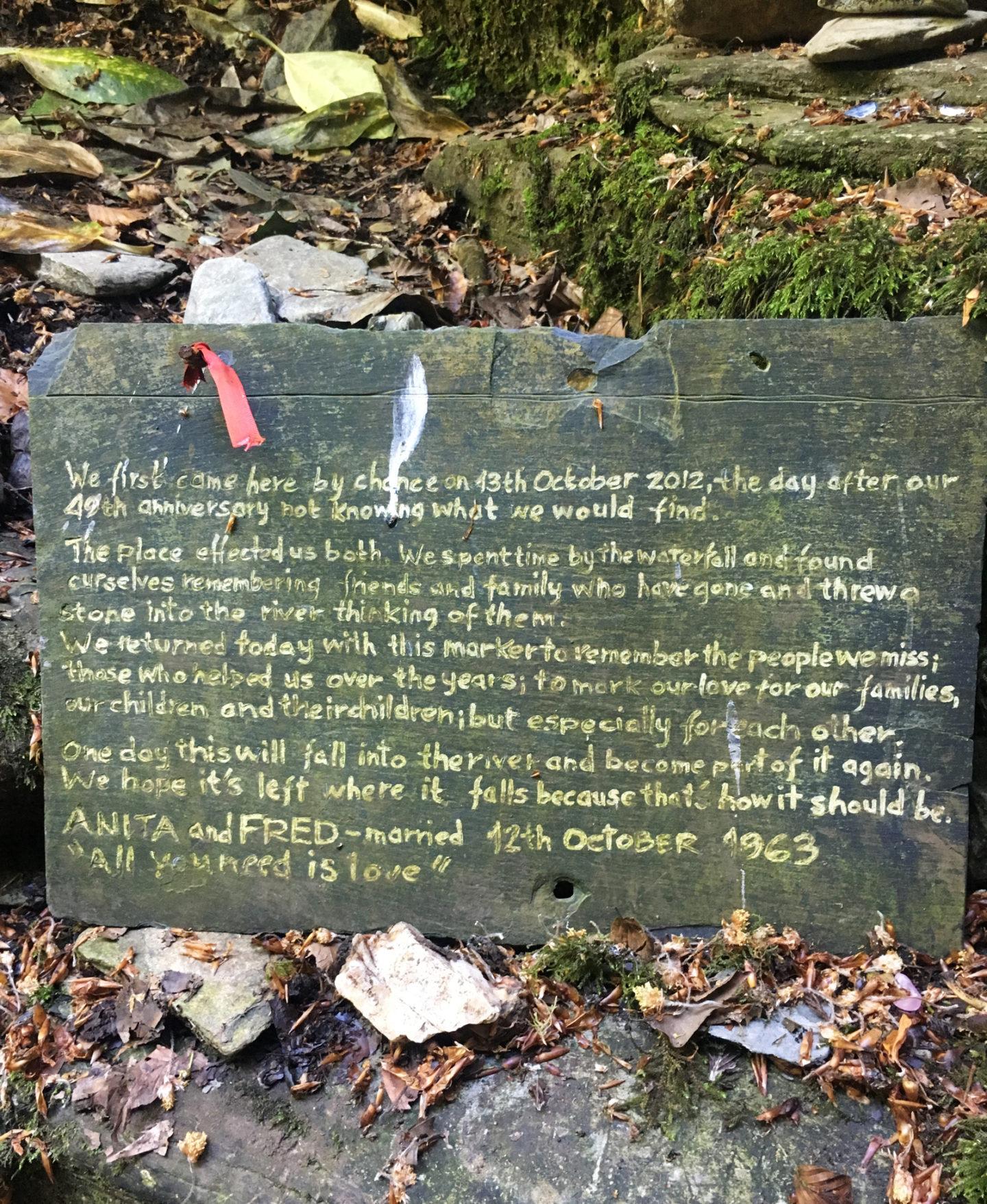 Sign at St Nectan's Glen